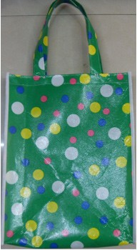 Green Non-woven bag With Lamation
