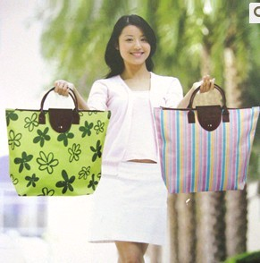 Green Polyster  Shopping bag