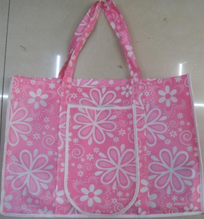 Pink Non Woven Fashion Shopping bag