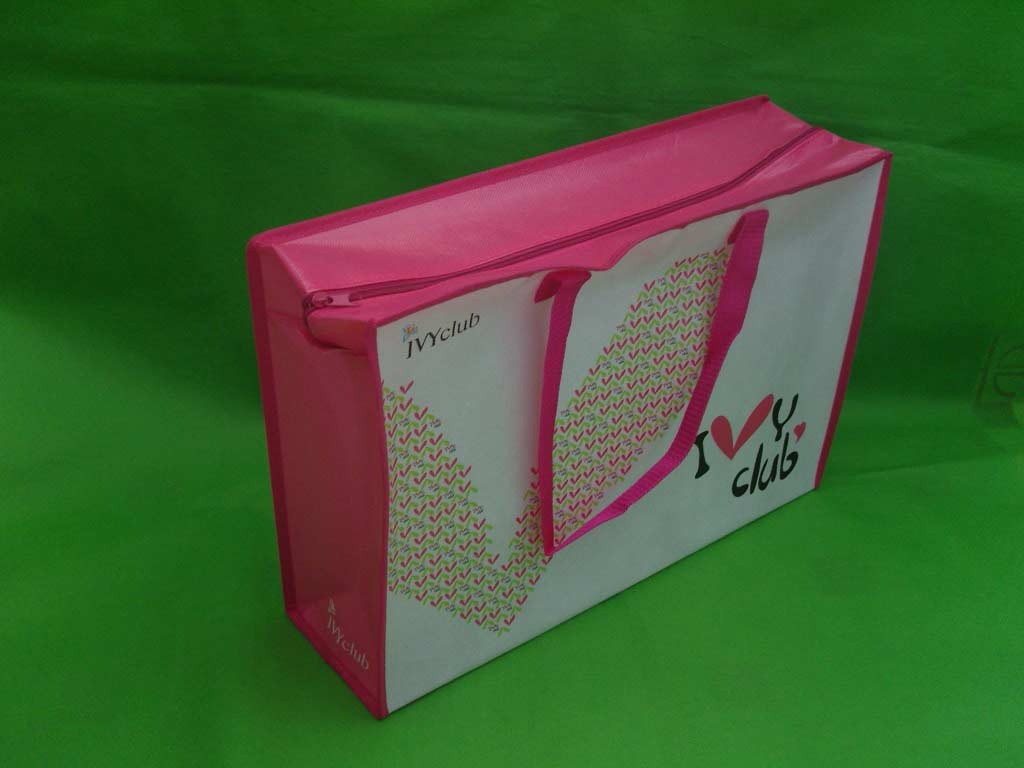Pink Non-woven bag With Matt Lamation