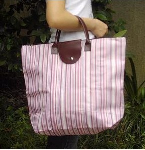 Pink Polyster  Shopping bag