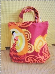 Pink polysten Shopping bag