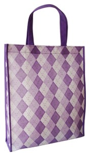 Purple Non Woven  Shopping bag With Lamation