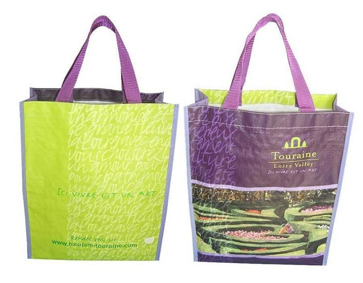 Purple PP-woven bag With Lamation