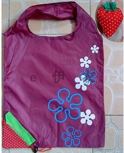 Purple Simple Polyster Shopping bag