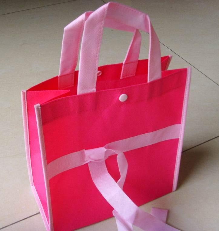 Red  Non Woven Fashion Shopping bag