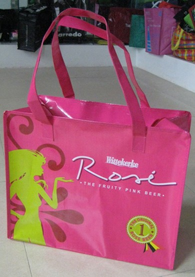 Red PVC Shopping bag