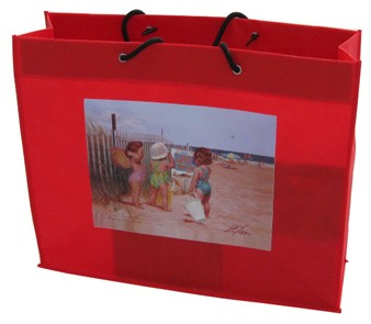 Red Polyster Fashion Shopping bag