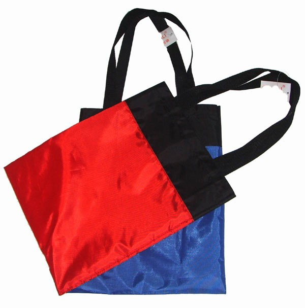 Red Polyster Shopping bag