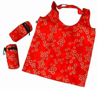 Red Simple Polyster Shopping bag