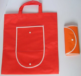 Red foldable Non Woven Shopping bag