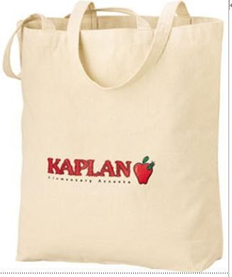 White 10OZ Cotton Shopping bag