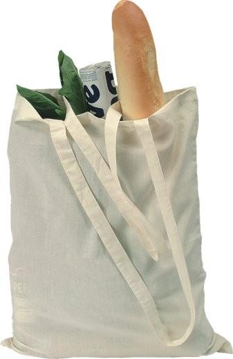 White 12OZ Cotton Shopping bag