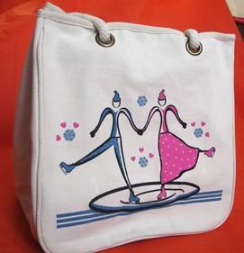 White 16OZ Cotton Shopping bag