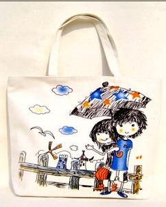 White Contton Shopping bag