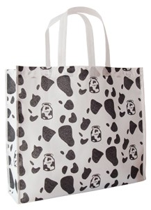 White Non Woven Fashion Shopping bag