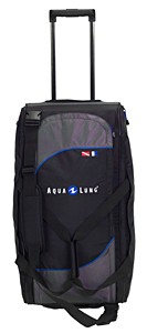 Big Black Polyster  sports bag With Trolly