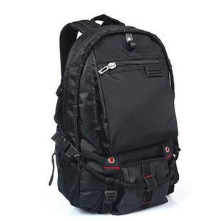Black Polyster  backpack sports bag