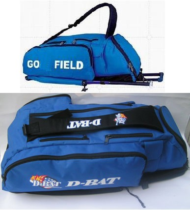 Blue Polyster sports bag With Trolly