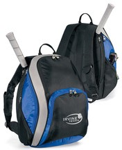Blue Polyster sports ball bag