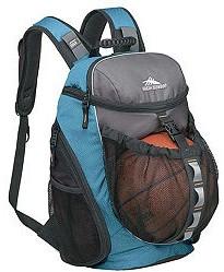 Blue Polyster sports ball bag
