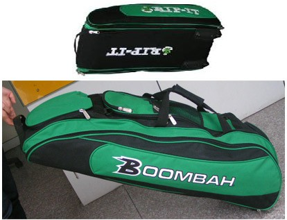 Green Polyster sports bag With Trolly