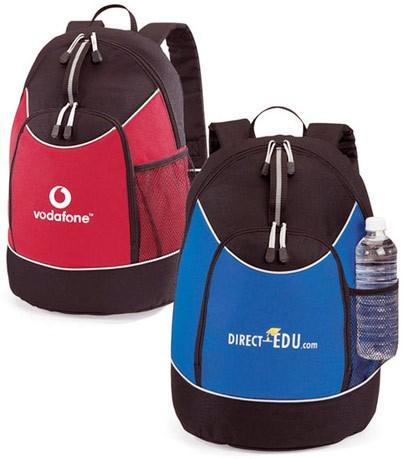 Red Blue Polyster sports Backpack bag