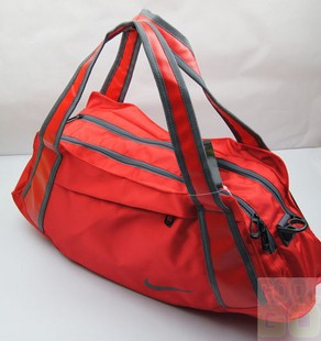 Red Polyster  sports bag