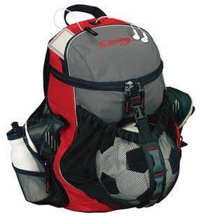Red Polyster sports ball bag
