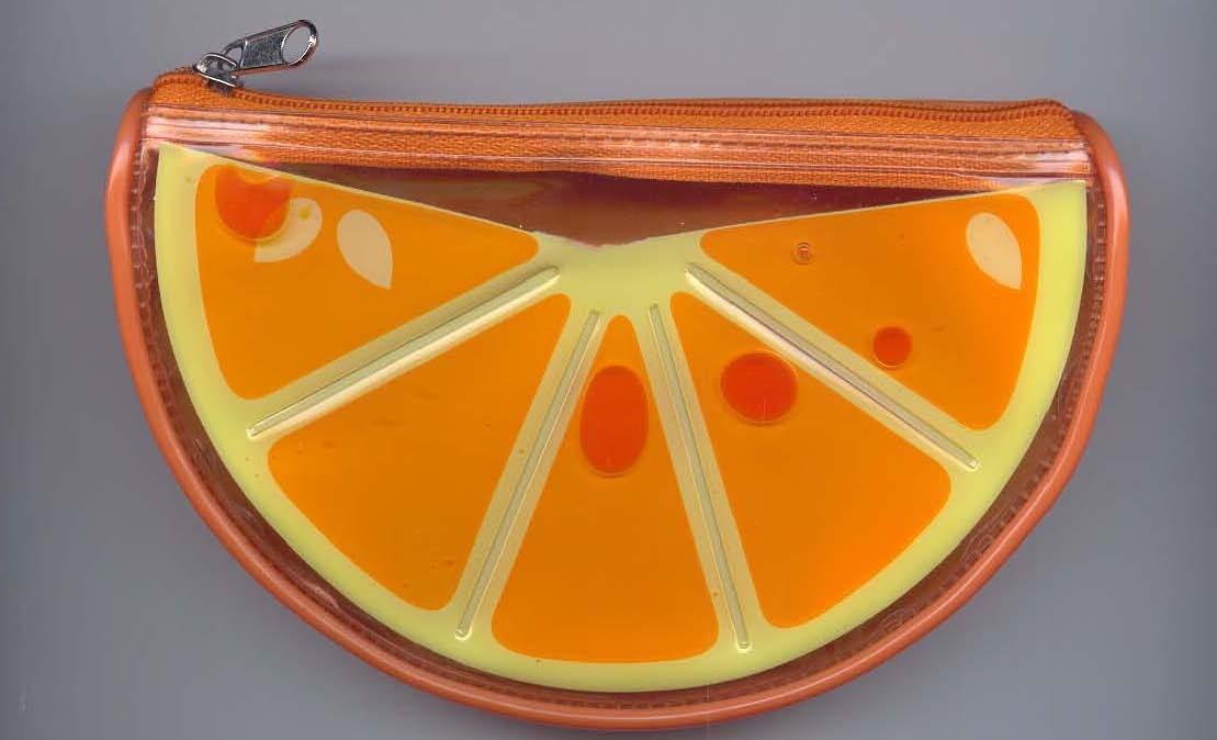Fruit shape Clear PVC Toliet Bag
