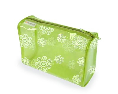 Green PVC Toliet Bag