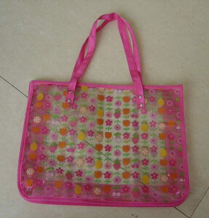 Strawberry Printing Toliet Bag  With Long Handle
