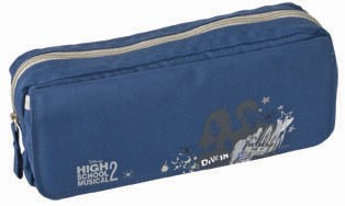 Blue fashion pencil bag