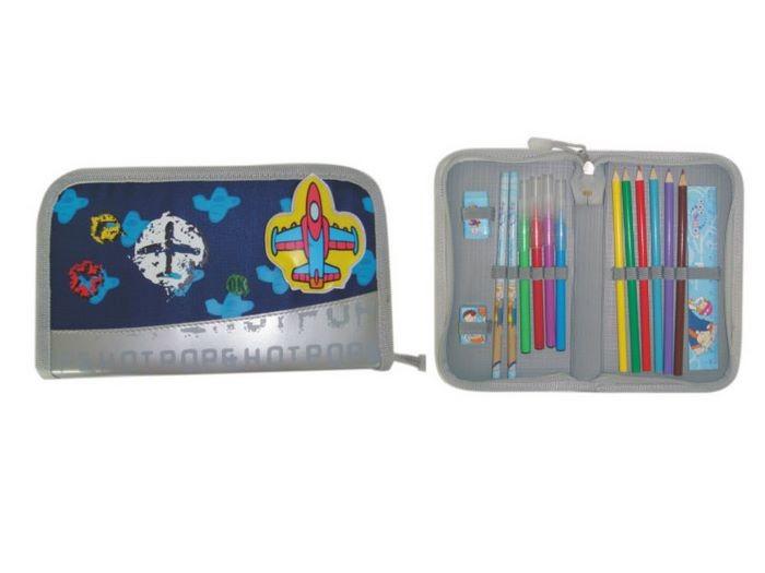 Blue kids cartoon pencil case