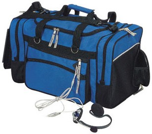Blue Quality Ourdoor Travel bag With shoes bag