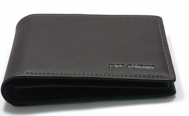 Black Fashion Men's  PU Wallet bag