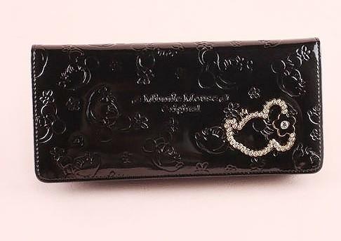 Black Fashion PVC Wallet bag