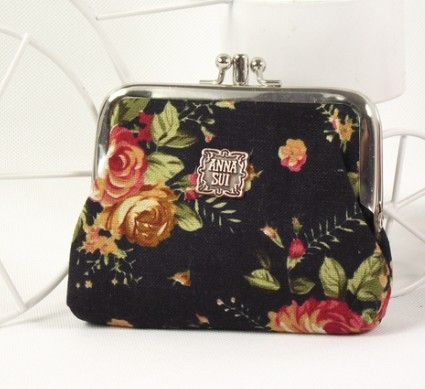 Black Fashion Polyster Wallet bag