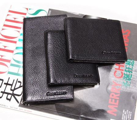 Black Fashion Real Leather Wallet bag