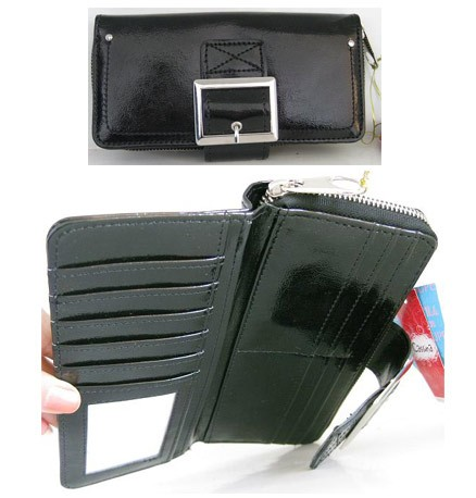 Black PU Wallet bag