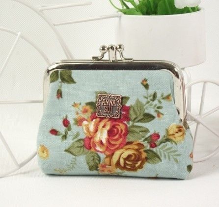 Blue Fashion Polyster Wallet bag