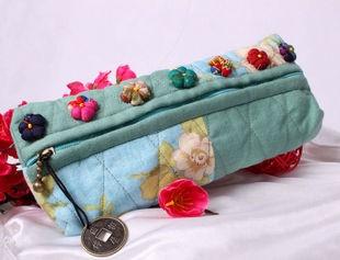 Blue Polyster Wallet bag
