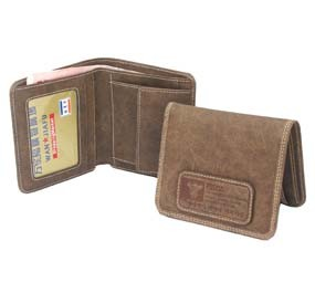 Brown real Leather Wallet bag