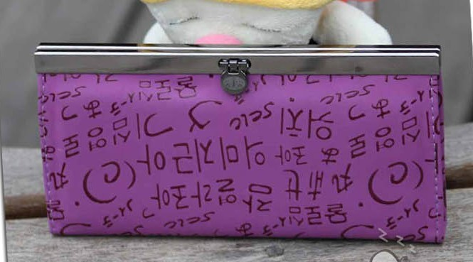 Fashion Purple PU Wallet bag