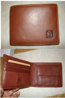 Men's Brown Leather Wallet bag