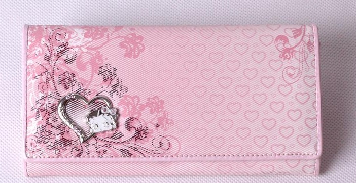 Pink Fashion PU Wallet bag