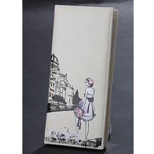 White PU Wallet bag