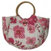 Flower Jute lady beach bag