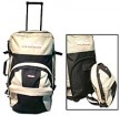 White Polyster  backpack sports bag With Trolly
